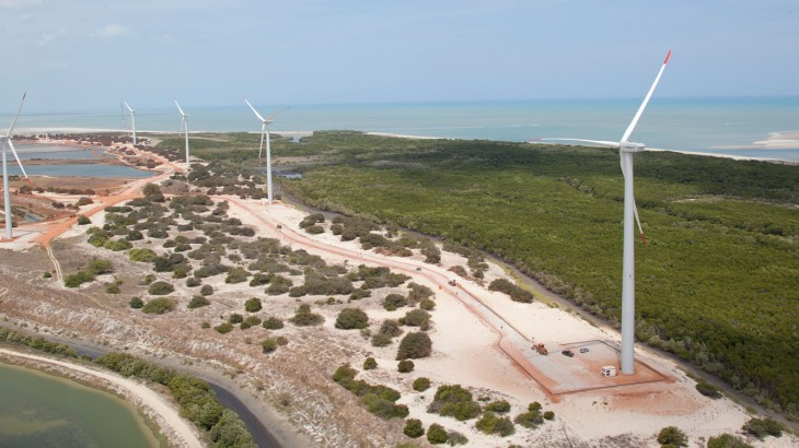 Parque eólico de Aratuá (RN). Foto: GE
